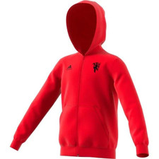 adidas Manchester United FC Kids Full Zip Hoodie - Red