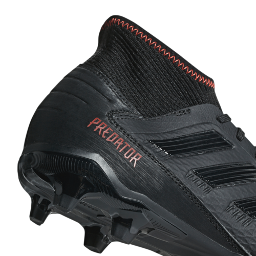 adidas Predator 19.3 Firm Ground Boots - Core Black/Core Black/Active Red