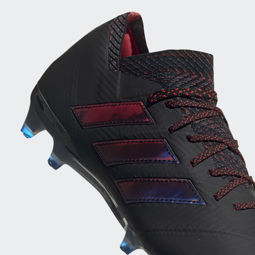 adidas Nemeziz 18.1 Firm Ground Boots - Core Black/Core Black/Football Blue