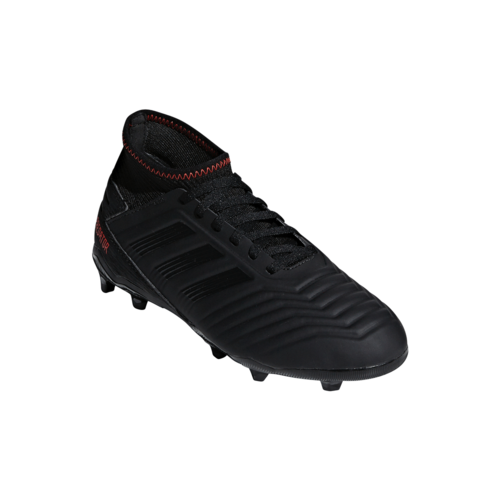 adidas Predator 19.3 Firm Ground Boots JR - Core Black/Core Black/Active Red