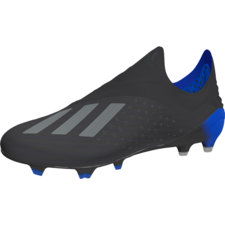 adidas X 18+ Firm Ground Boots - Black/Black/Bold Blue