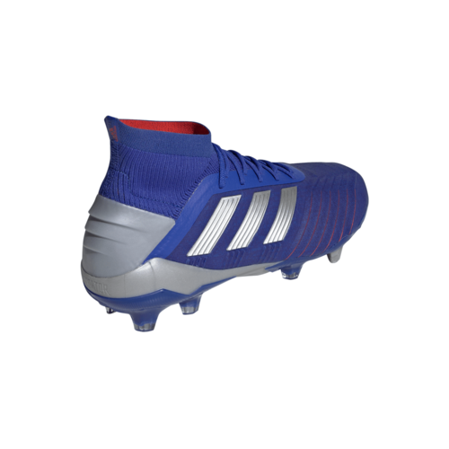 adidas Predator 19.1 Firm Ground Boots - Blue/Silver