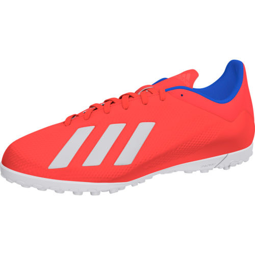 e35dbb8aa11 adidas X Tango 18.4 Turf Boots - Red Silver Blue
