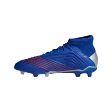 adidas Predator 19.1 Firm Ground Boots Jr - Blue/Silver/Red