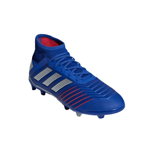adidas Predator 19.1 Firm Ground Boots Jr - Blue/Silver/Red