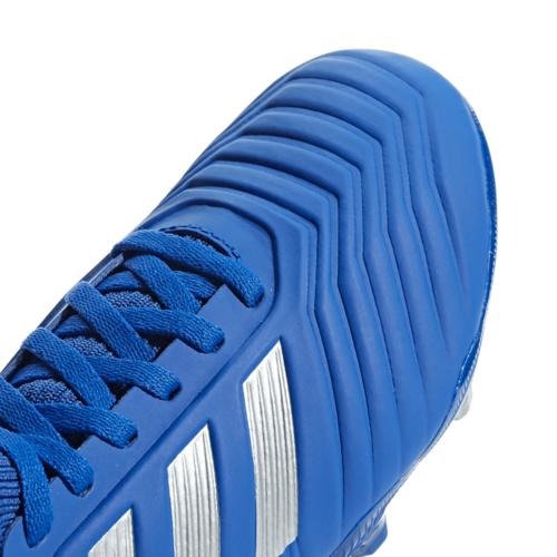 adidas Predator 19.3 Firm Ground Boots JR - Blue/Silver/Red