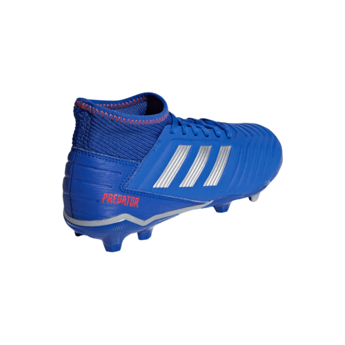 adidas Predator 19.3 Firm Ground Boots JR - Blue/Silver/Red