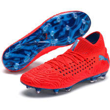 Puma Future 19.1 Netfit Firm Ground Boot - Red/Blue