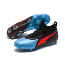 Puma One 19.1 Firm Ground Boot - Blue/Red/Black