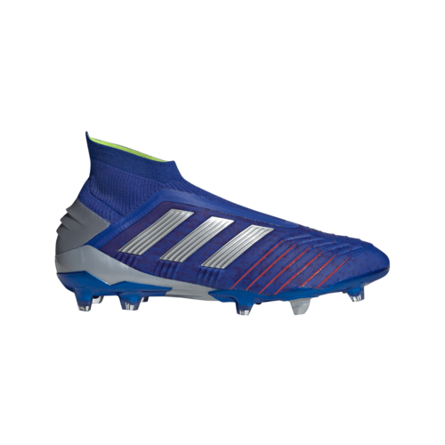 adidas Predator 19+ Firm Ground Boots - Bold Blue/Silver/Red