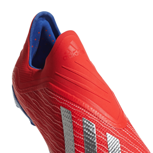adidas X 18+ Firm Ground Boots Jr - Red/Silver/Blue