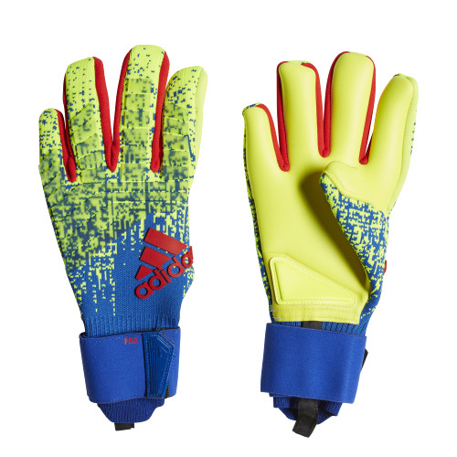 adidas Predator Pro Gloves - Yellow/Blue/Red