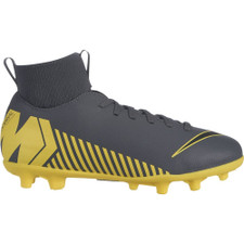 Nike Jr. Superfly 6 Club Firm Ground Boot - Grey/Black/Yellow