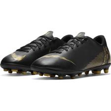 Nike Jr. Vapor 12 Club Firm Ground Boot - Black/Gold