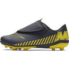 Nike Jr. Vapor 12 Club Firm Ground Boot - Grey/Yellow