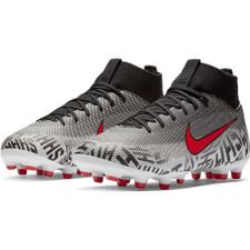 Neymar Jr. Superfly 6 Academy Firm Ground Boot - White/Red/Black
