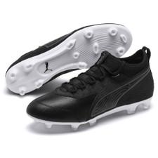Puma ONE 19.3 Firm Ground Boot - Black/White