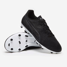 Puma ONE 19.4 Firm Ground Boot Jr - Black/White