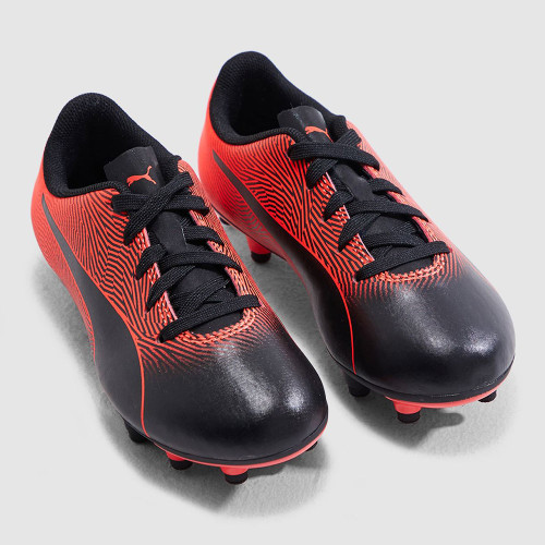 Puma Spirit II Firm Ground Boot Jr - Black/Red