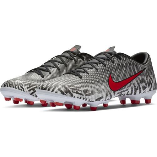 Nike Neymar Vapor 12 Academy Firm Ground Boot - White/Red/Black