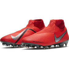 Nike Phantom Elite Firm Ground Boot - Red/Silver