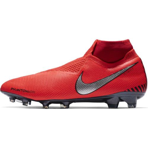 Nike Phantom Elite Firm Ground Boot - Red/Silver