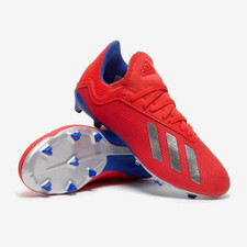 adidas Jr X 18.3 Firm Ground Boots - Red/Silver/Blue