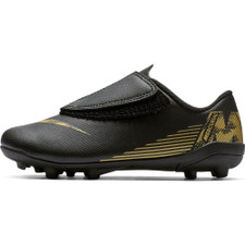 Nike Jr. Vapor 12 Club Firm Ground Boot - Black/Gold