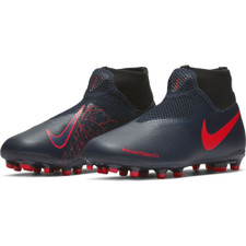 Nike Jr. PhantomVSN Academy Dynamic Fit Firm Ground Boot - Black/Red