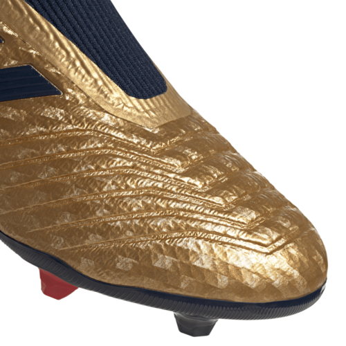 adidas Predator 19.3 Firm Ground Zinédine Zidane Boots - Gold/Navy/Red