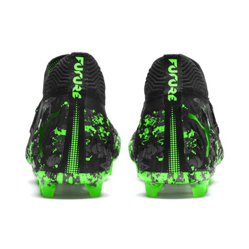Puma FUTURE 19.1 Netfit Firm Ground Boots - Black/Gray/Green