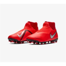 Nike Jr Phantom VSN Academy DF FG/MG - Bright Crimson/Metallic Silver