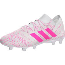 adidas Nemeziz 18.1 Firm Ground Boots - White/Pink