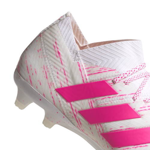 adidas Nemeziz 18.1 Firm Ground Boots - White/Pink