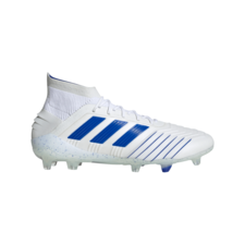 adidas Predator 19.1 Firm Ground Boots - White/Blue