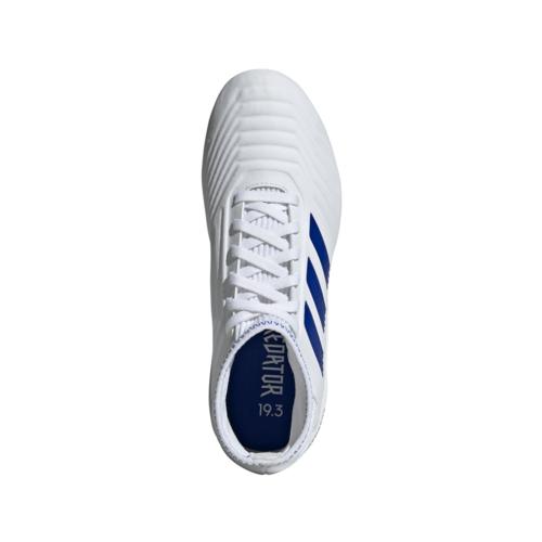 adidas Predator 19.3 Firm Ground Boots JR - White/Blue
