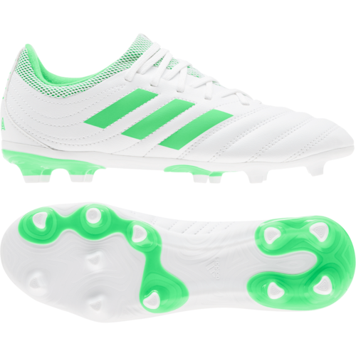 97c47456f ... adidas Copa 19.3 Firm Ground Boots JR - White Green ...