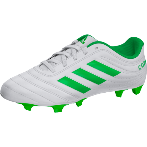 pecado moral Mismo  adidas COPA 19.4 Firm Ground Boot JR - White/Green | SOCCERX