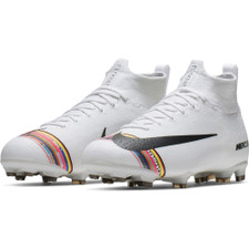 Nike Jr. Superfly 6 Elite Firm Ground Boots - White/Platinum
