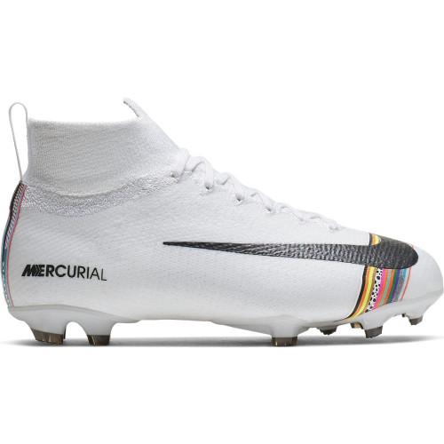 Nike Jr. Superfly 6 Elite Firm Ground Boots - White/Platinum