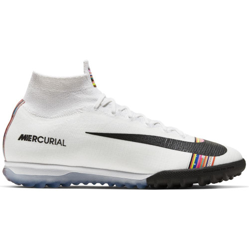 c9673ce1914 ... Nike CR7 SuperfluX 6 Elite Artificial Turf Boots - Platinum White Black  ...