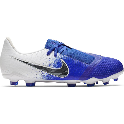 Nike Jr. Phantom Venom Elite Firm Ground Boot - White/Black/Blue