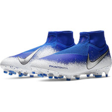 Nike Phantom Vision Elite Dynamic Fit Firm Ground Boots - Blue/Chrome/White