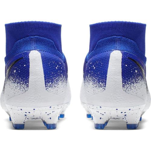 Nike Phantom Vision Elite Dynamic Fit Firm Ground Boots - Blue/Chrome/White