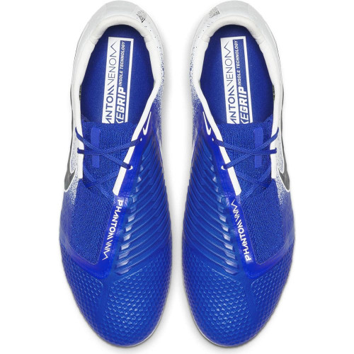 Nike Phantom Venom Elite Firm Ground Boot - White/Black/Blue
