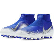 Nike Jr. PhantomVSN Elite Dynamic Fit Firm Ground Boot - Blue/Chrome/White