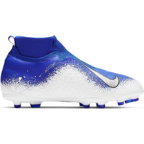 Nike Jr. PhantomVSN Elite Dynamic Fit Firm Ground Boot - Blue/Chrome/White