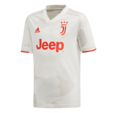 adidas Youth Juventus Away Jersey - Core White/Raw White