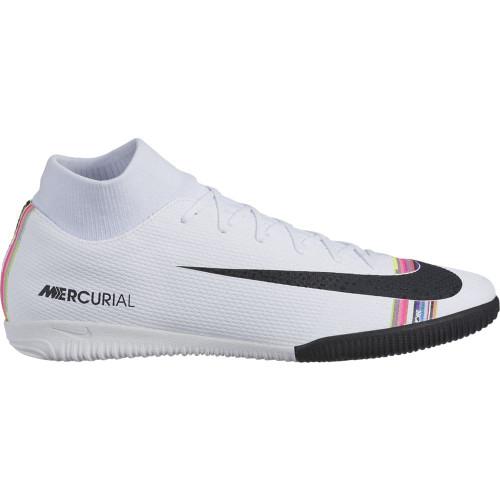Nike CR7 SuperflyX Academy Indoor Boots - White/Black/Platinum