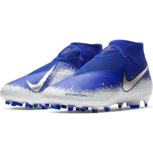 Nike Phantom VSN Pro DF Firm Ground Boots - Blue/Chrome/White